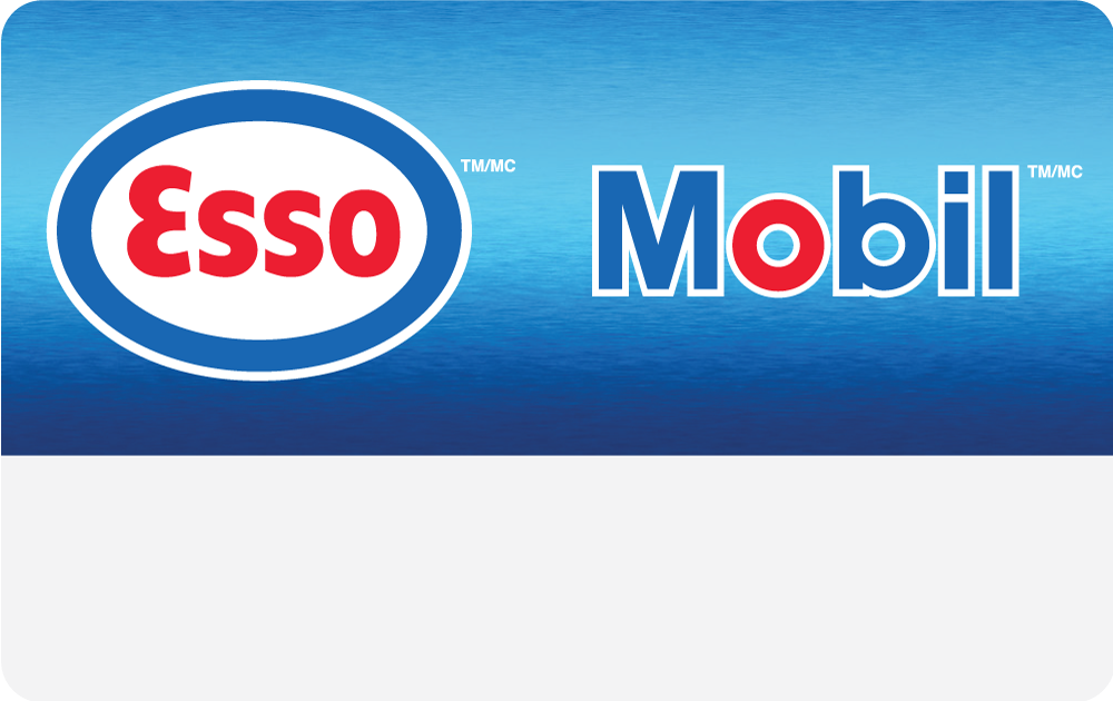 Esso Mobil Physical Card