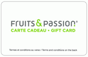 Fruits & Passion Standard Gift Card (Physical Delivery)