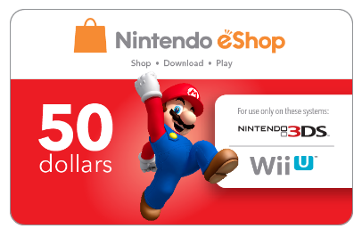 Nintendo EShop Online Gift Card (Electronic Delivery)