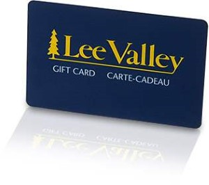 Lee Valley Standard Gift Card (Physical Delivery)