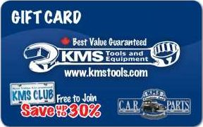 KMS Tools and Equipment Standard Gift Card (Physical Delivery)