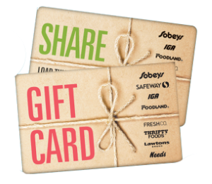 Foodland Standard Gift Card (Physical Delivery)