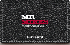MR MIKES SteakhouseCasual Online Gift Card (Electronic Delivery)