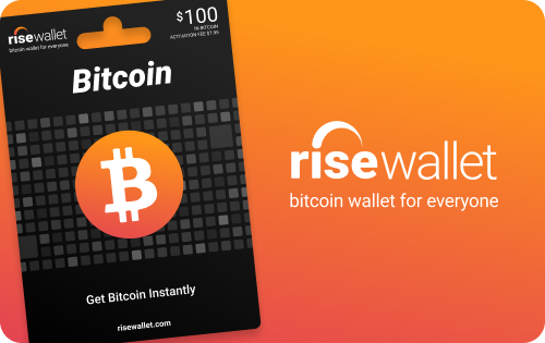 Carte Bitcoin Canada.Bitcoin Gift Card By Rise Wallet Physical Delivery